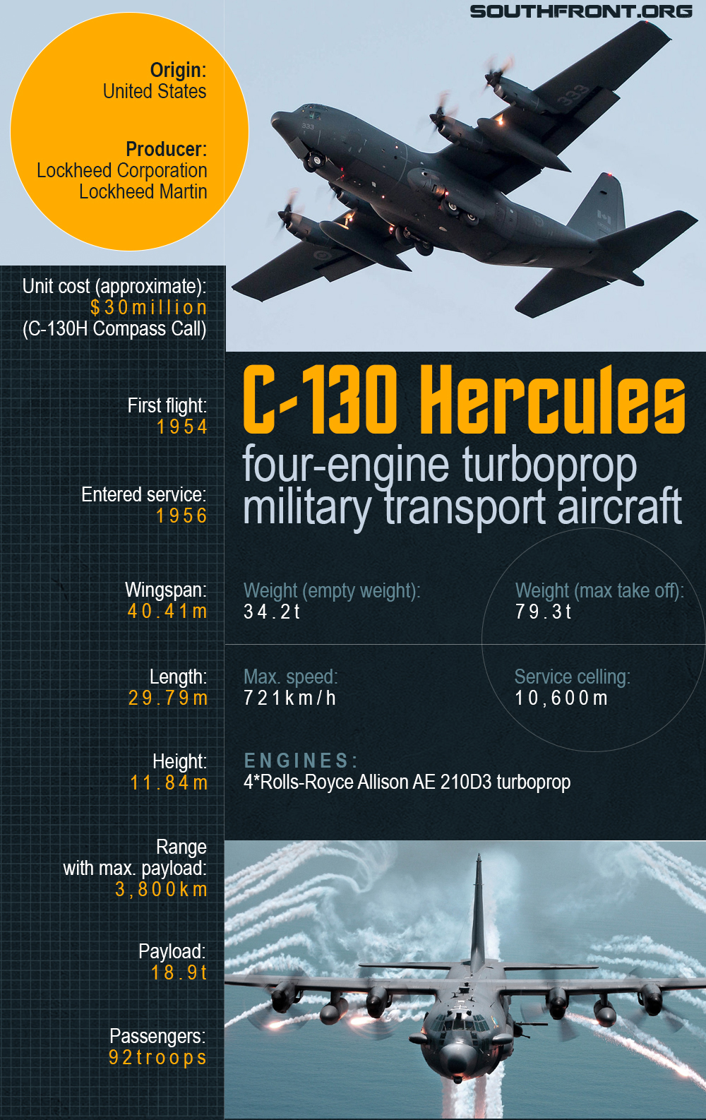 C-130 Hercules Military Transport Aircraft Of US-led Coalition Crashed In Iraq (Infographics)