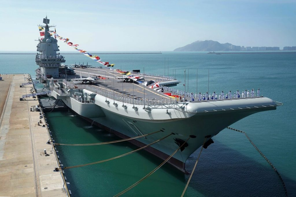 Chinese Aircraft Carrier Shandong Embarks On First Sea Trials
