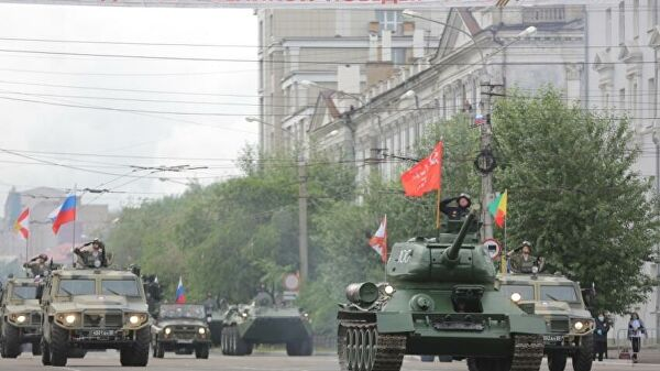 Russia Holds 75th Victory Day Parade, After A Delay, With Guest Troops From 13 Countries