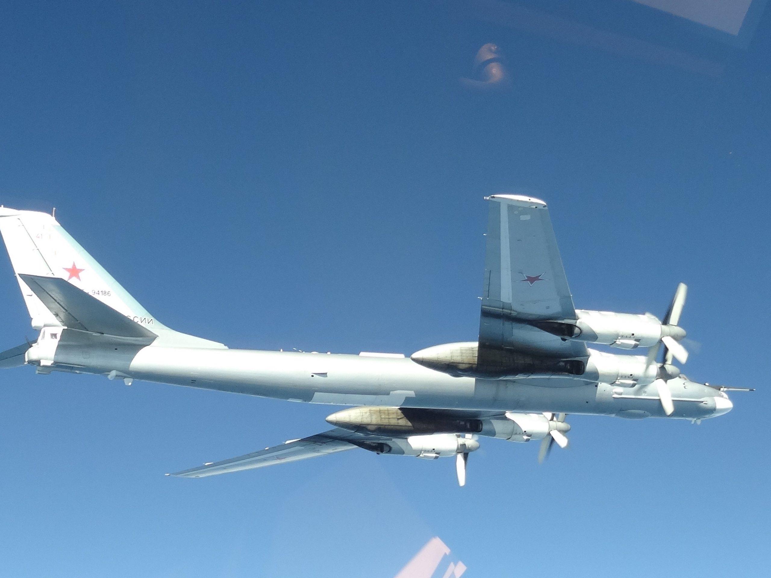 NORAD F-22s Intercept Russian Tu-95 Bombers Near Alaskan Airspace