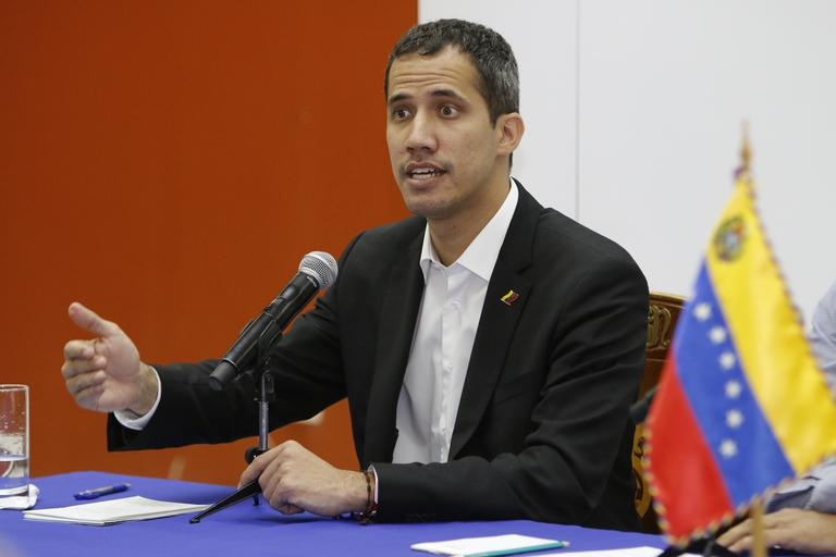 US-Proclaimed President Guaido Claims Khalifa Haftar Landed In Venezuela