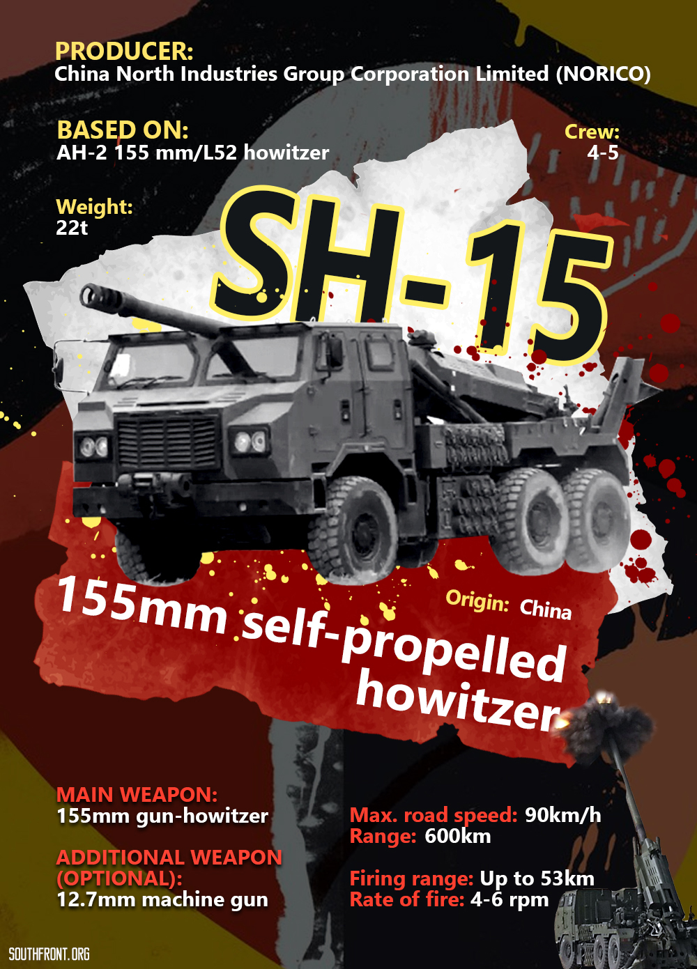 SH-15 155mm Self-Propelled Howitzer (Infographics)