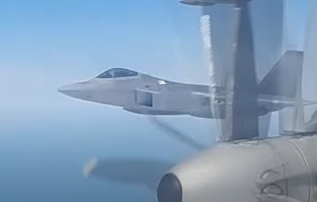 In Video: U.S. F-22 Jets Intercept Russian Strategic Bombers Over Inetrnational Airspace 'Near Alaska'