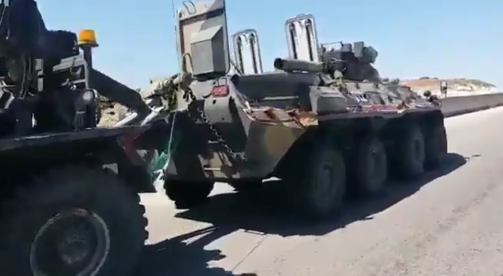 BTR-82A Vehicle Of Russian Military Police Damaged In IED Attack On Turkish-Russian Patrol In Southern Idlib (Video)