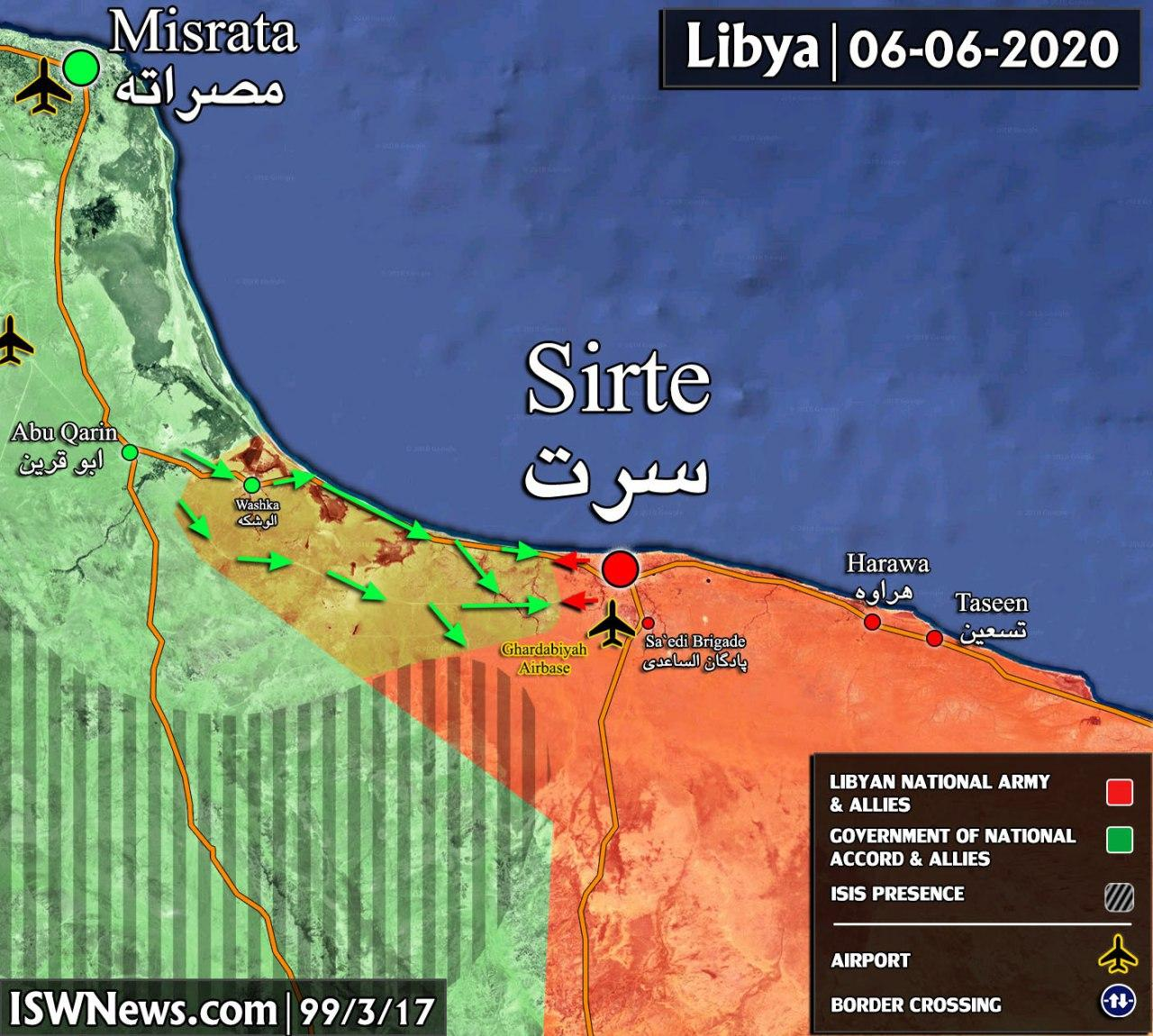 Libyan Army Claims It Repelled Turkish-Backed Attack On Sirte