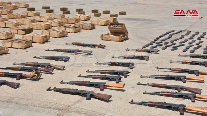 Syrian Security Forces Seized Large Arms Shipment Headed For Greater Idlib (Photos)