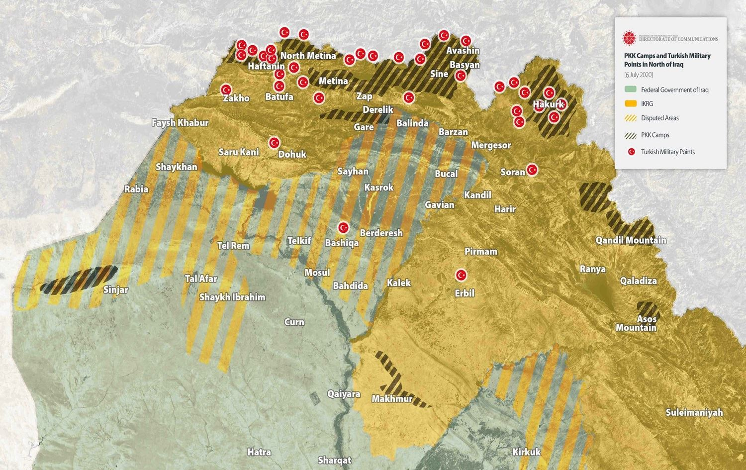 Turkey Has 37 'Military Points' In Northern Iraq (Map Update)