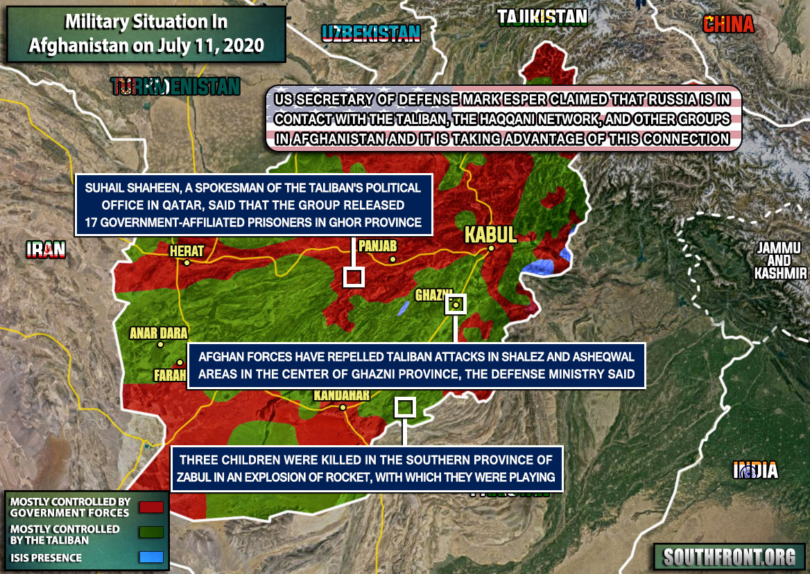Military Situation In Afghanistan On July 11, 2020 (Map Update)