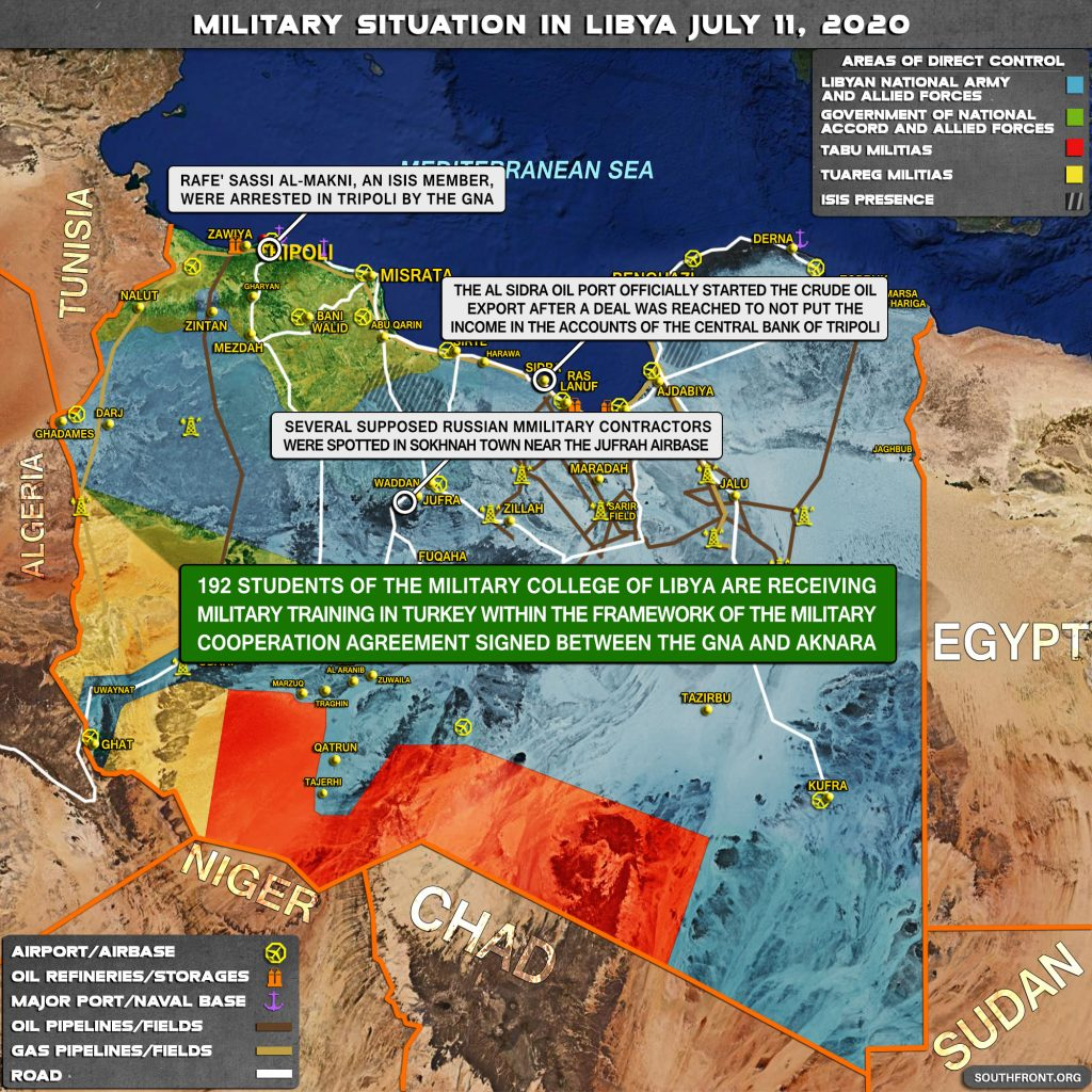 Military Situation In Libya On July 11, 2020 (Map Update)