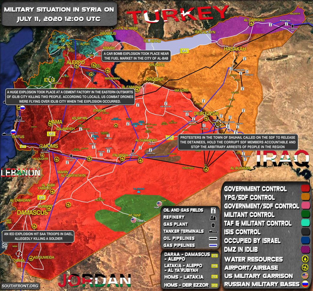 Military Situation In Syria On July 11, 2020 (Map Update)
