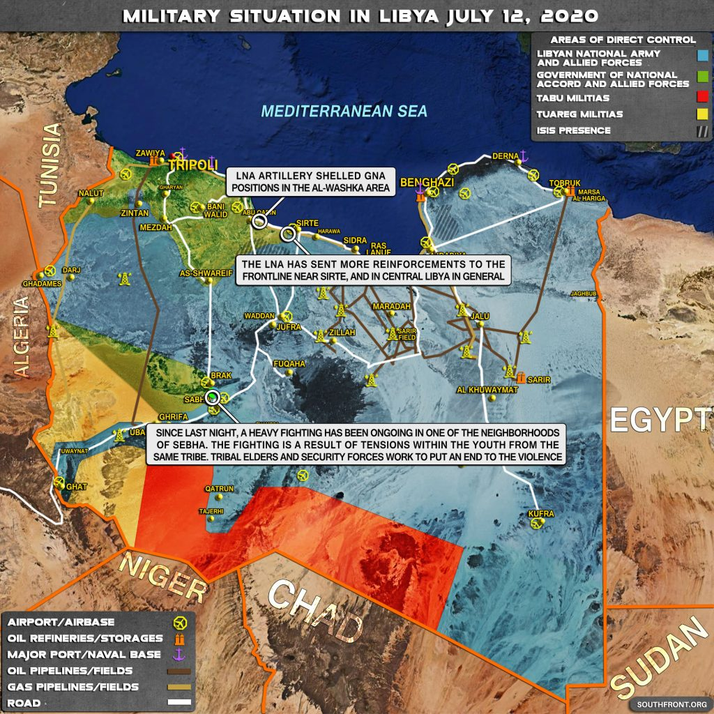 Military Situation In Libya On July 12, 2020 (Map Update)