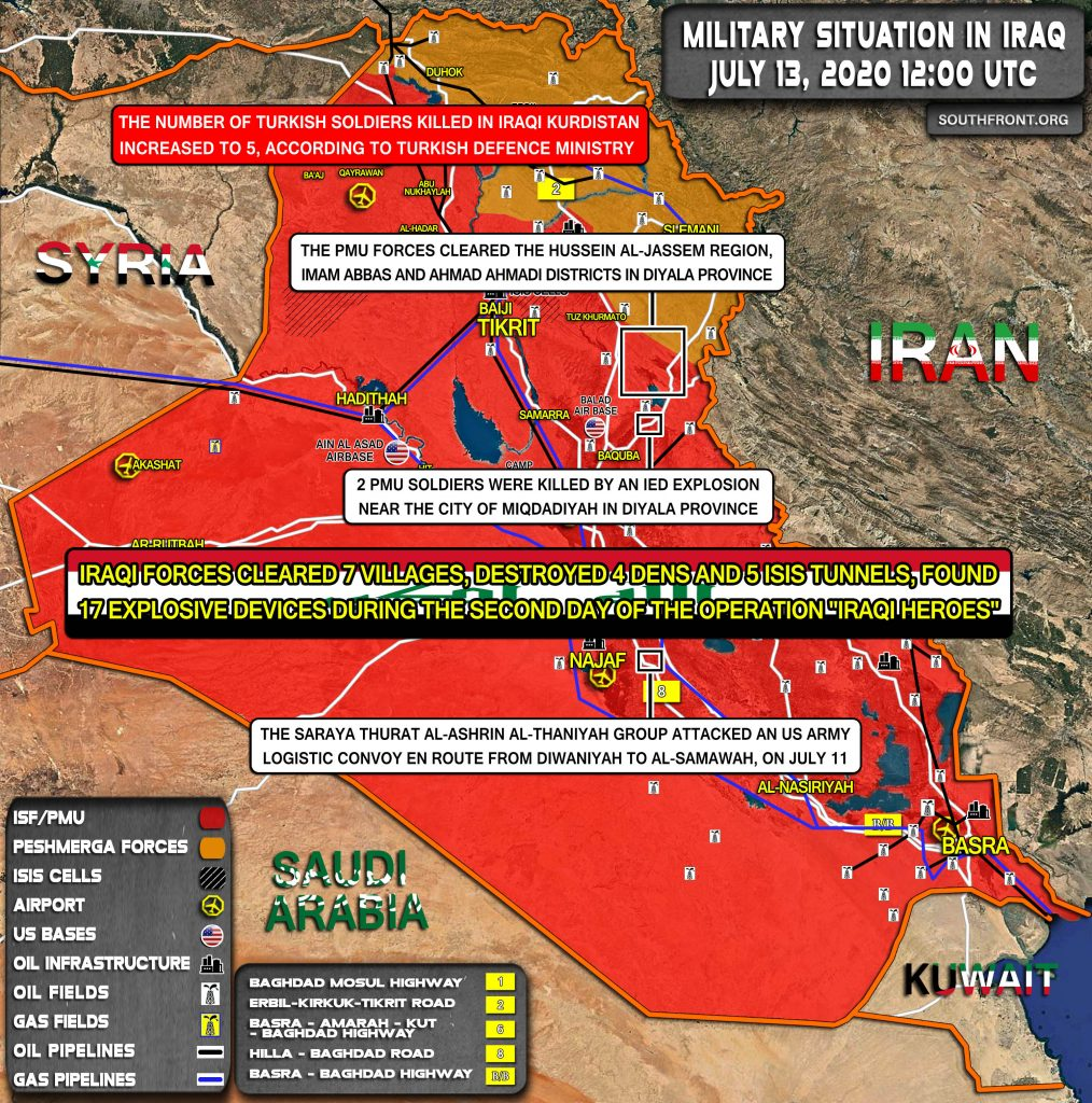 Military Situation In Iraq On July 13, 2020 (Map Update)