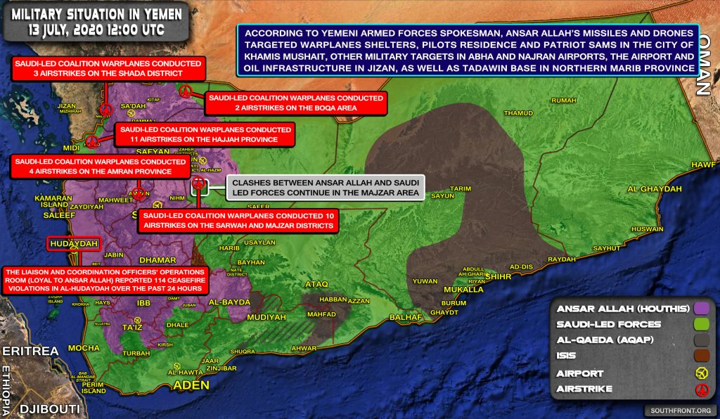 Military Situation In Yemen On July 13, 2020 (Map Update)