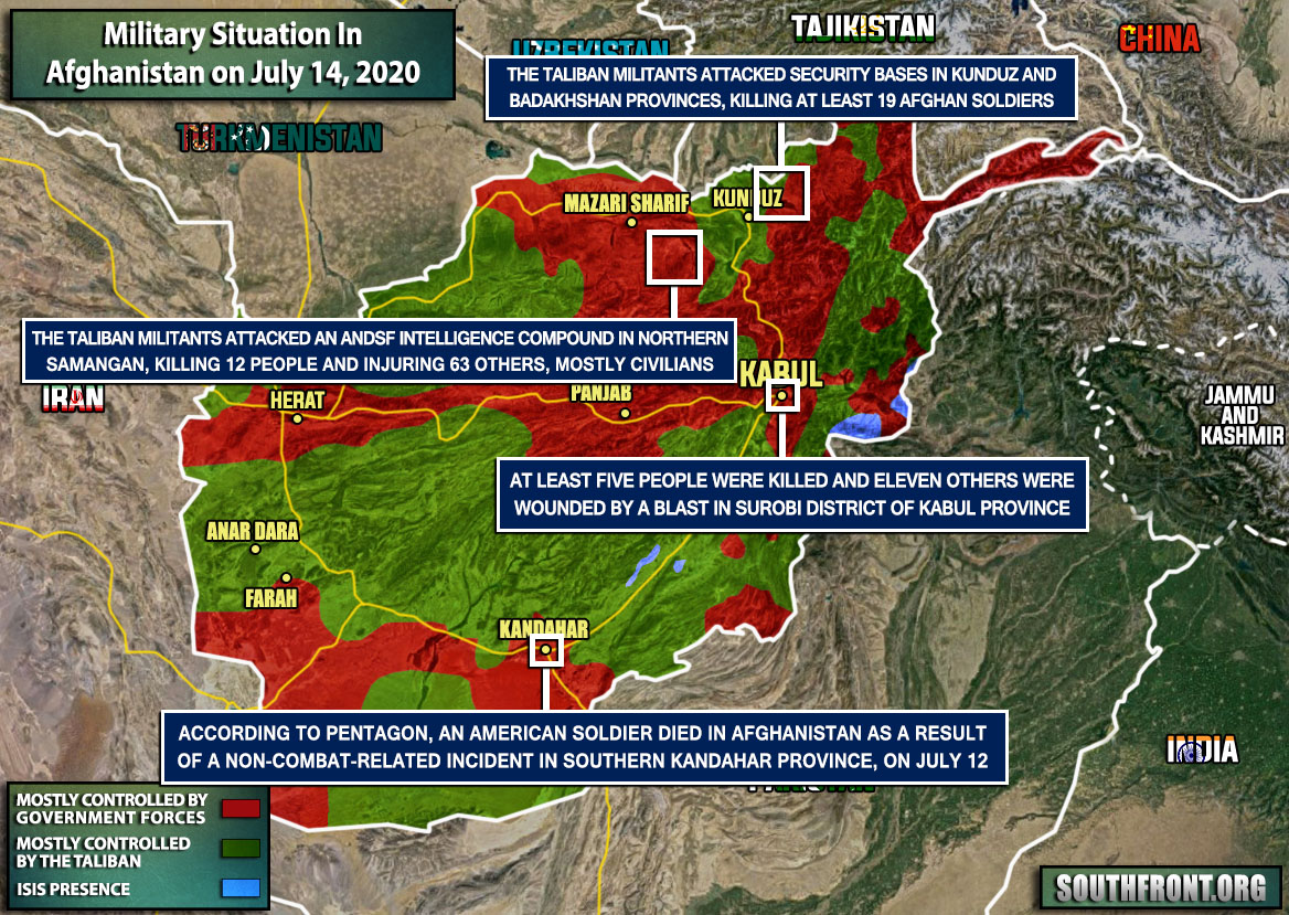 Military Situation In Afghanistan On July 14, 2020 (Map Update)