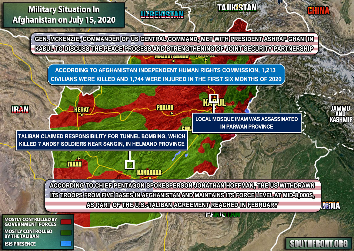 Military Situation In Afghanistan On July 15, 2020 (Map Update)