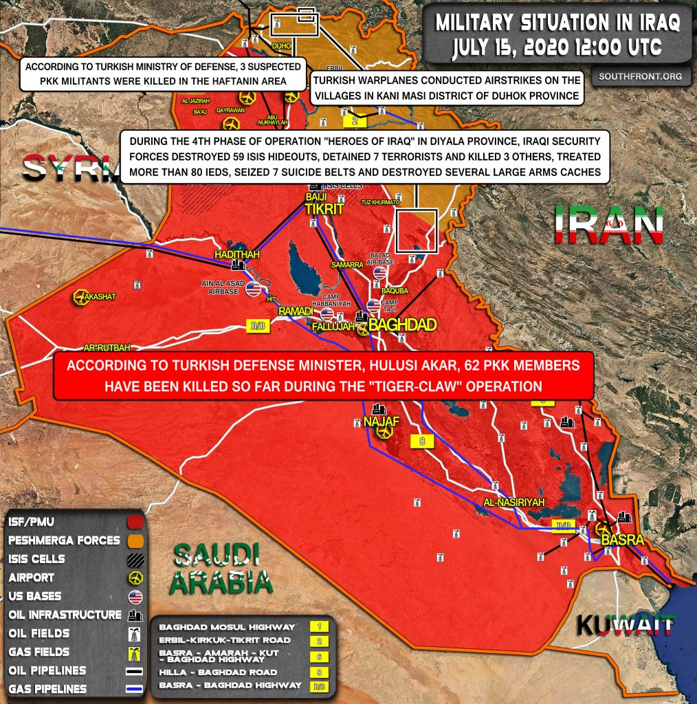 Military Situation In Iraq On July 15, 2020 (Map Update)
