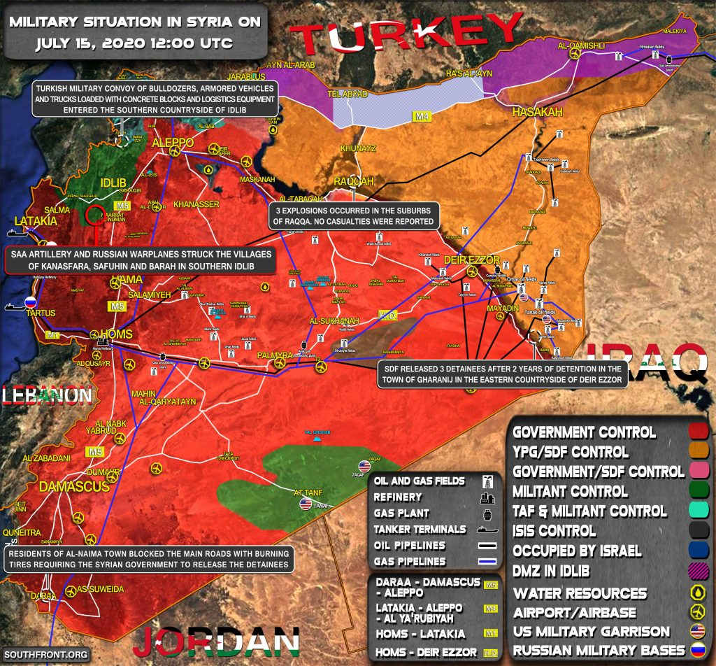 Military Situation In Syria On July 15, 2020 (Map Update)