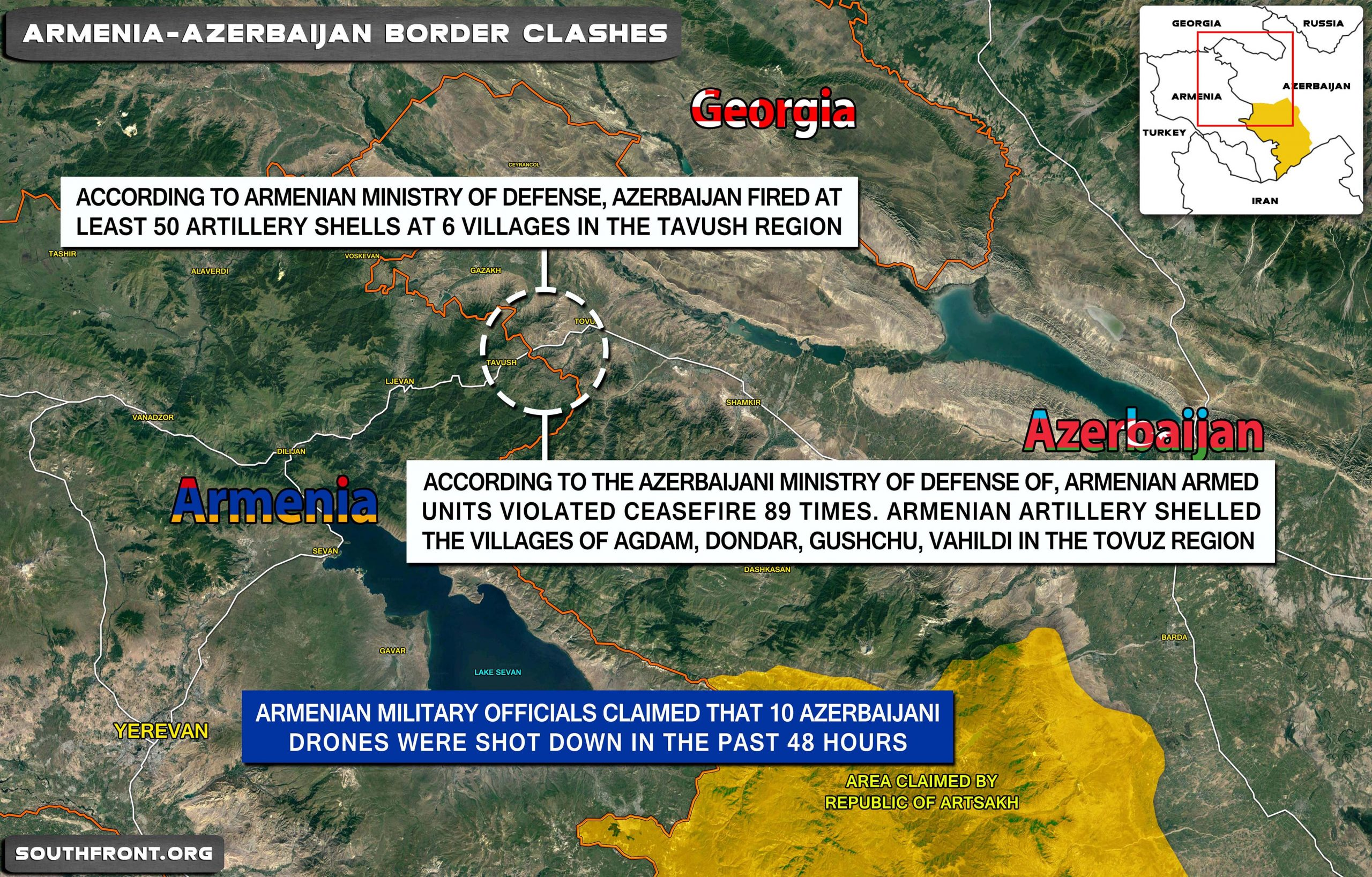 Overview Of Border Conflict Between Armenia And Azerbaijan - July 16, 2020 (Videos)