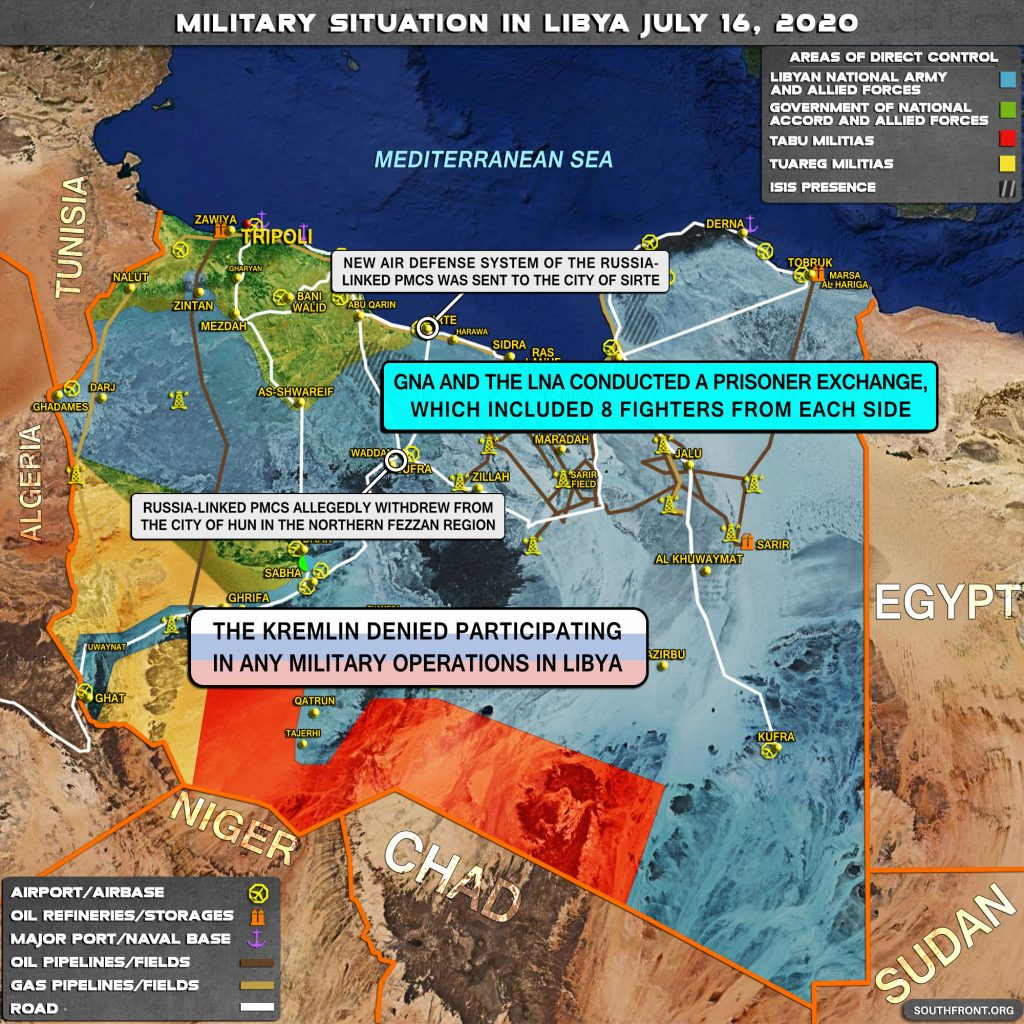 Military Situation In Libya On July 16, 2020 (Map Update)