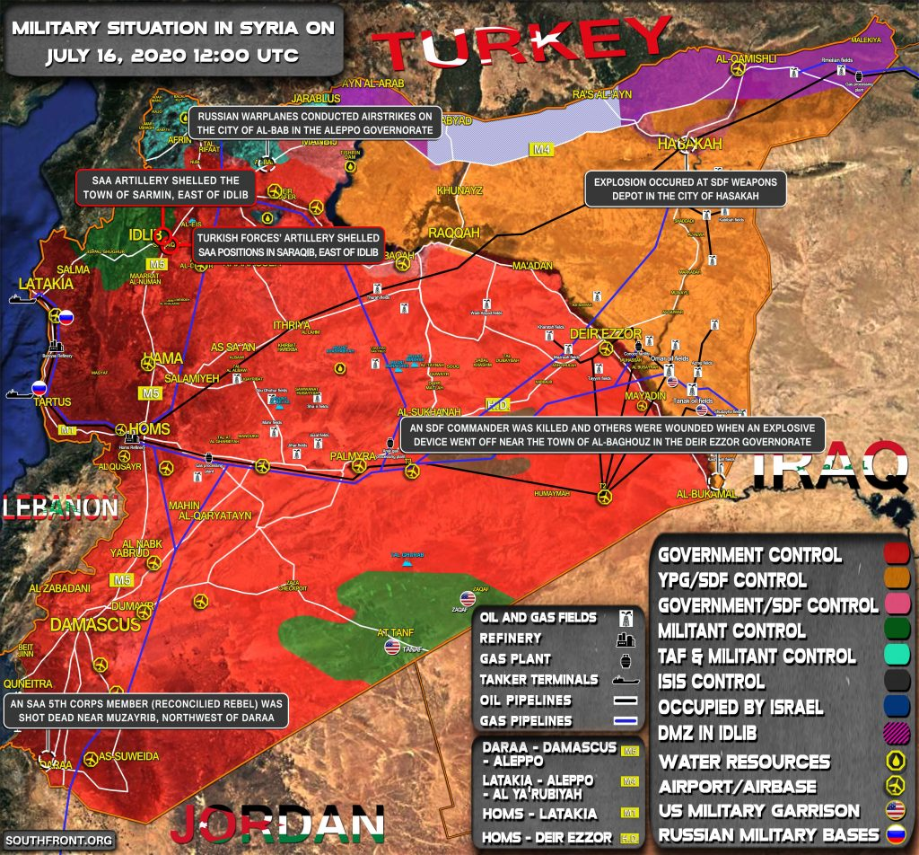 Military Situation In Syria On July 16, 2020 (Map Update)