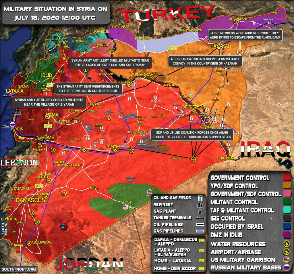 Military Situation In Syria On July 18, 2020 (Map Update)