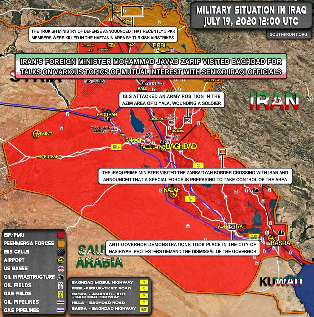 Military Situation In Iraq On July 19, 2020 (Map Update)