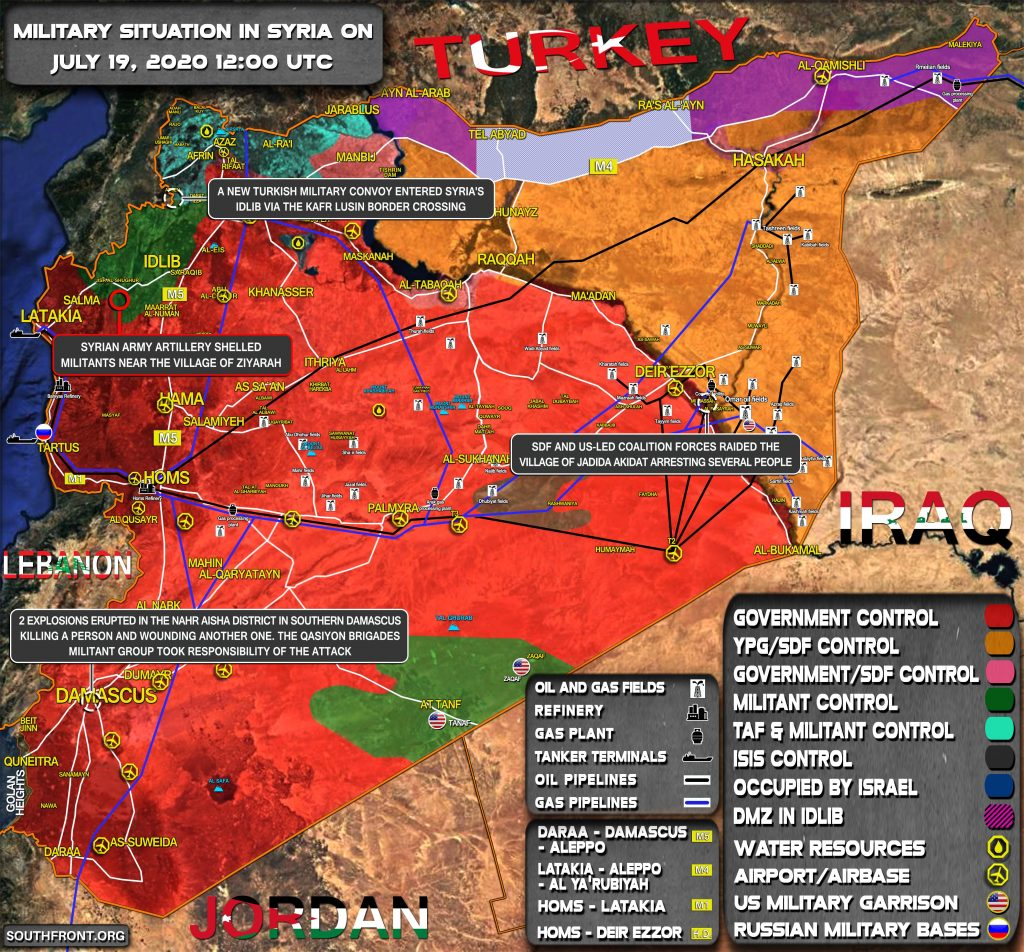 Military Situation In Syria On July 19, 2020 (Map Update)