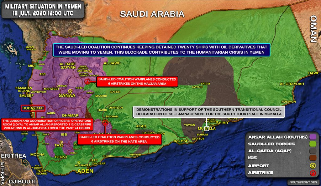 Military Situation In Yemen On July 19, 2020 (Map Update)
