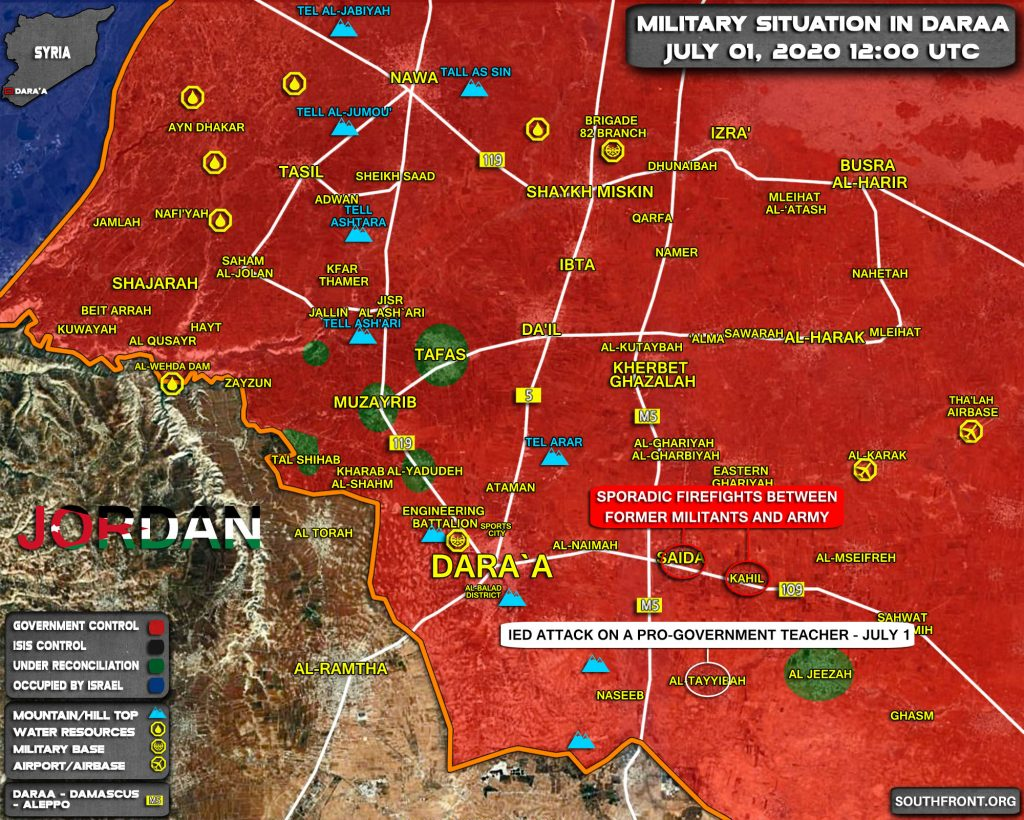 Map Update: Tensions Continue To Grow In Syria's Daraa Province