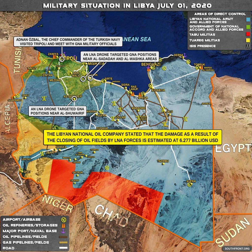 Military Situation In Libya On July 1, 2020 (Map Update)