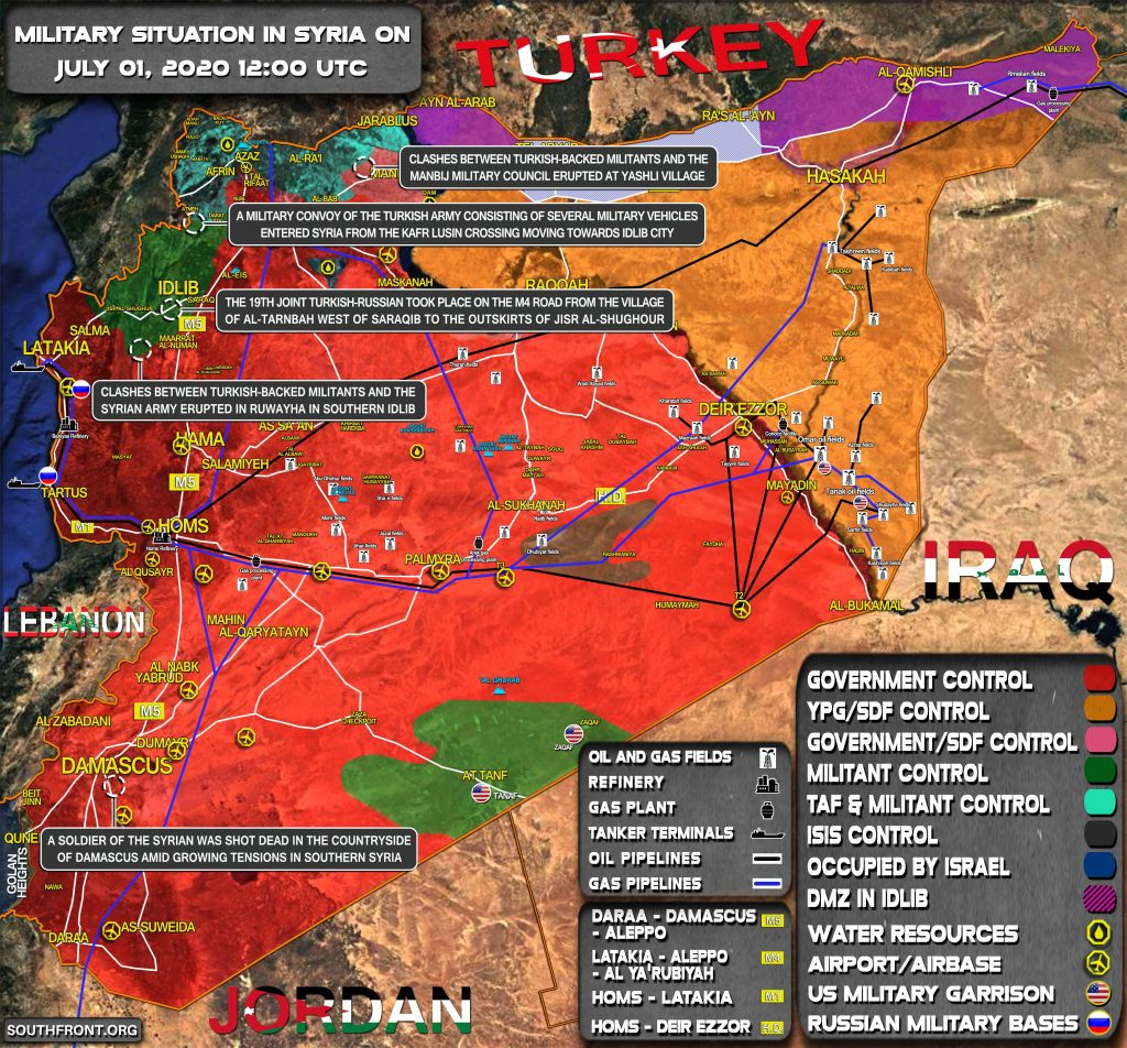 Military Situation In Syria On July 1, 2020 (Map Update)