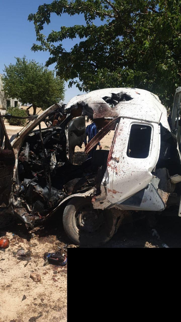 In Photos: Supposed US Drone Strike Struck Vehicle In Turkish-Occupied Part Of Syria