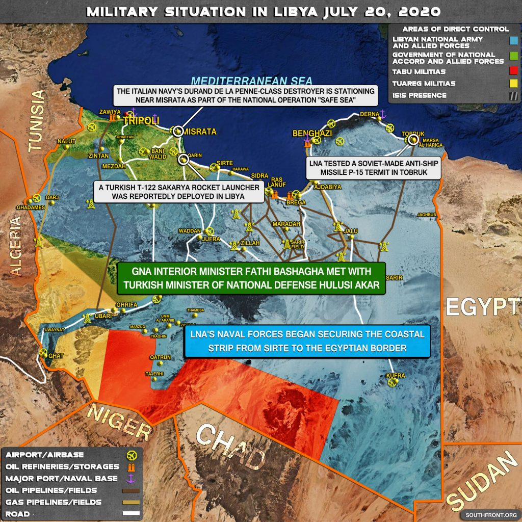 Military Situation In Libya On July 20, 2020 (Map Update)