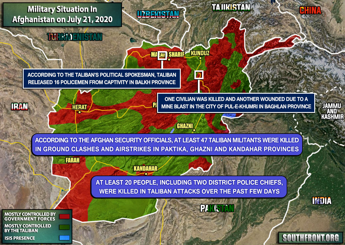 Military Situation In Afghanistan On July 21, 2020 (Map Update)