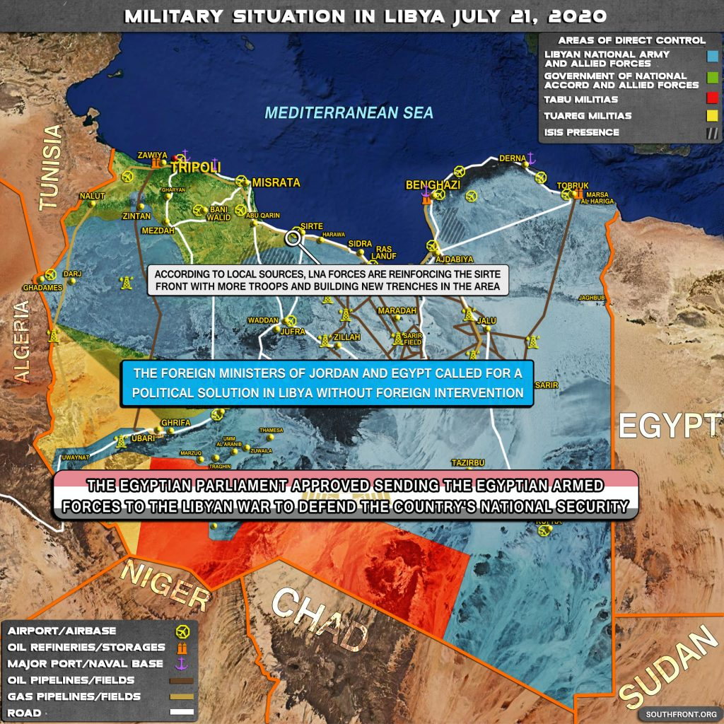 Military Situation In Libya On July 21, 2020 (Map Update)