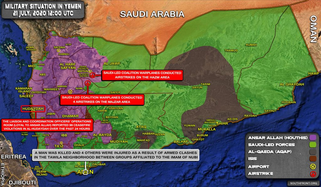 Military Situation In Yemen On July 20, 2020 (Map Update)