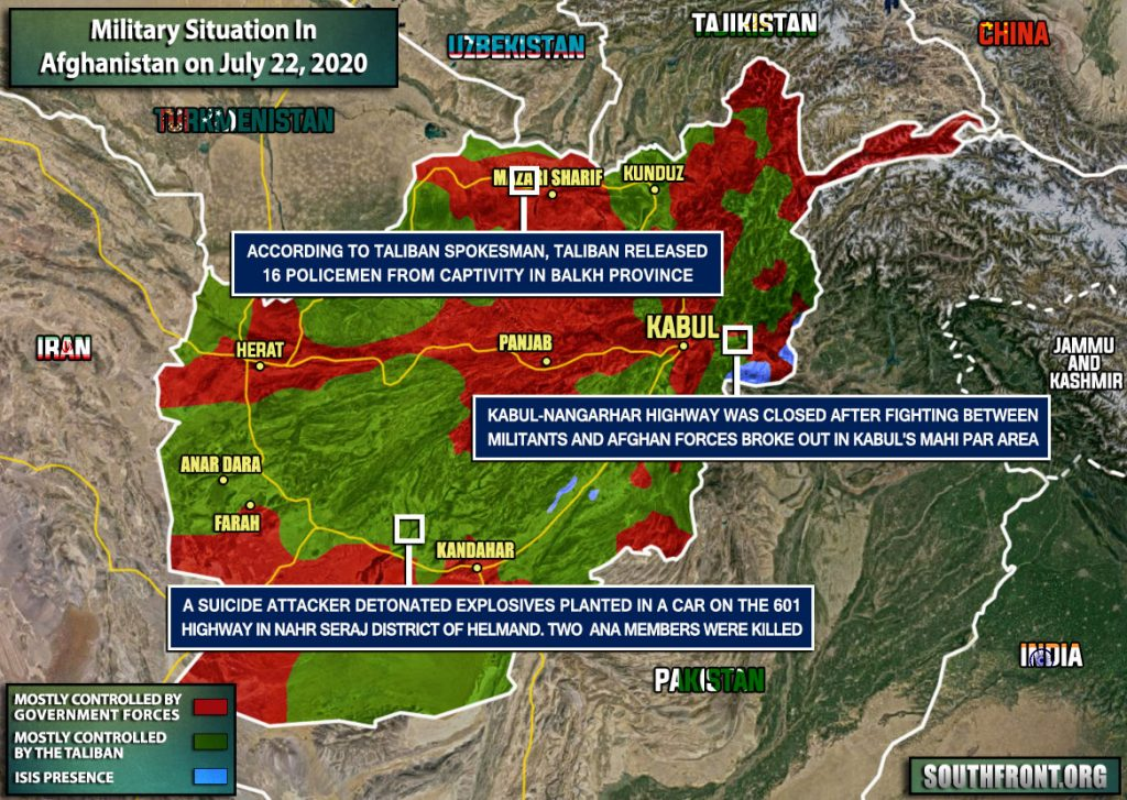 Military Situation In Afghanistan On July 22, 2020 (Map Update)