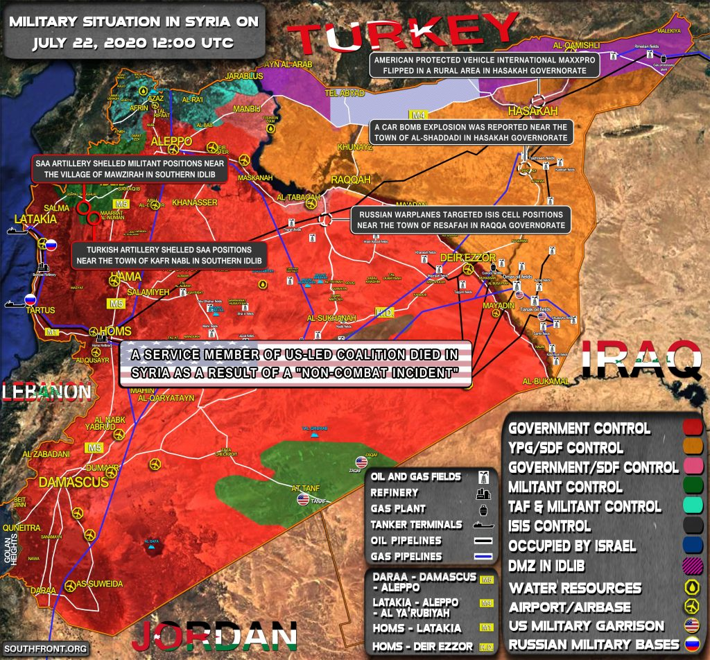 Military Situation In Syria On July 22, 2020 (Map Update)
