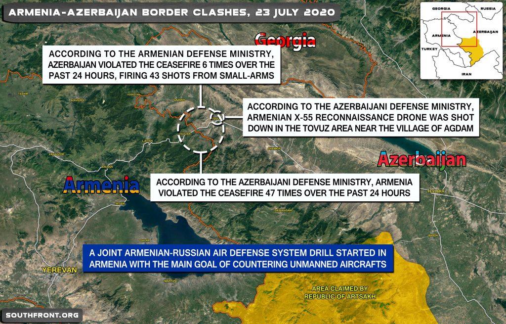 Military Situation On Armenian-Azerbaijani Border On July 23, 2020 (Map Update)