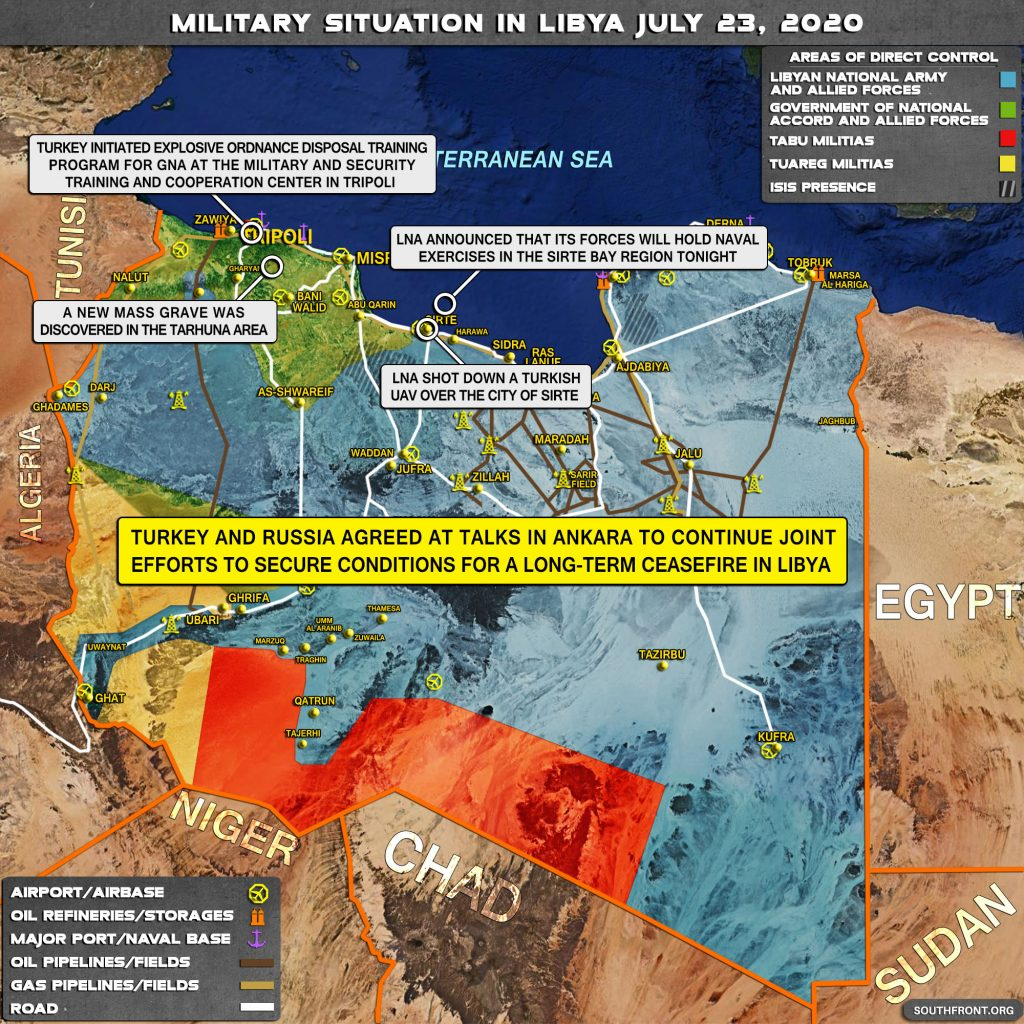 Military Situation In Libya On July 23, 2020 (Map Update)