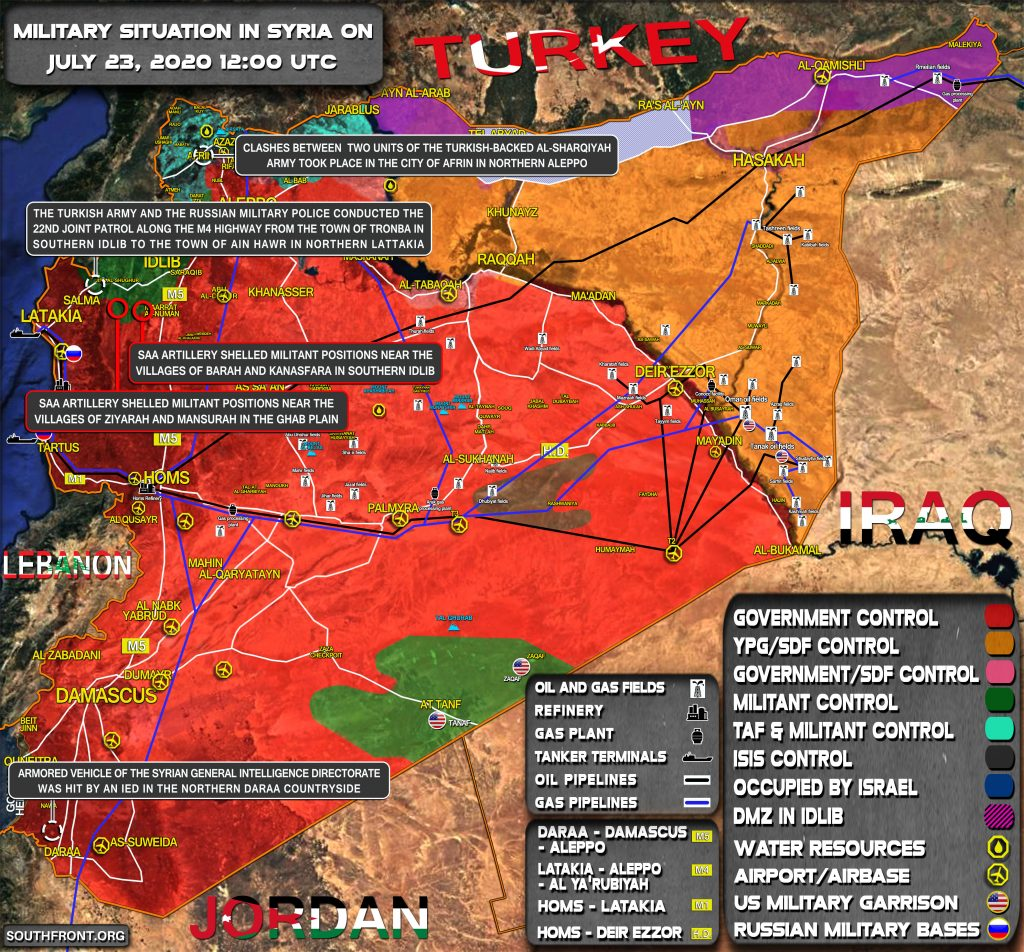 Military Situation In Syria On July 23, 2020 (Map Update)