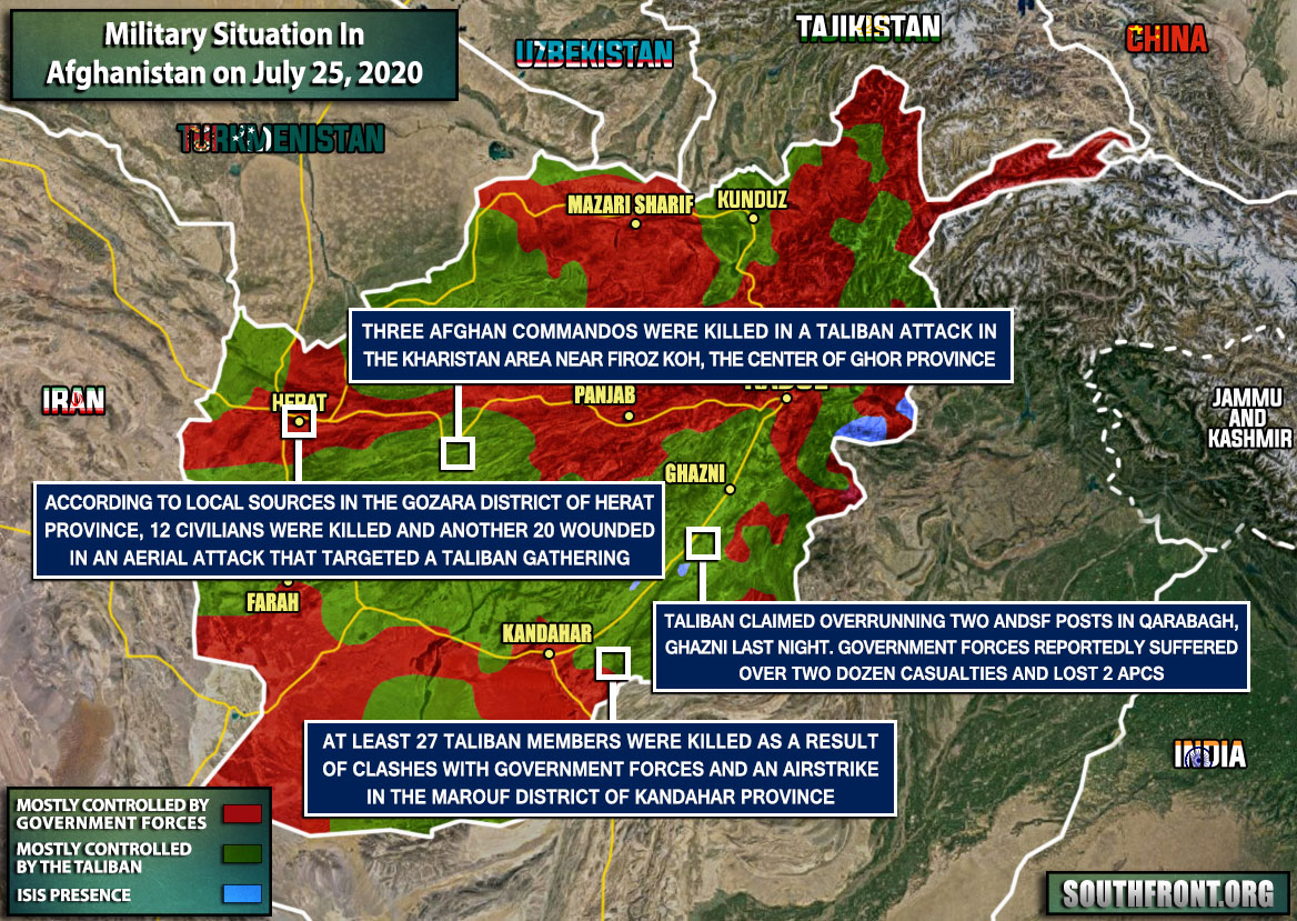Military Situation In Afghanistan On July 25, 2020 (Map Update)