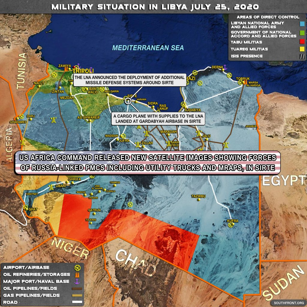 Military Situation In Libya On July 25, 2020 (Map Update)