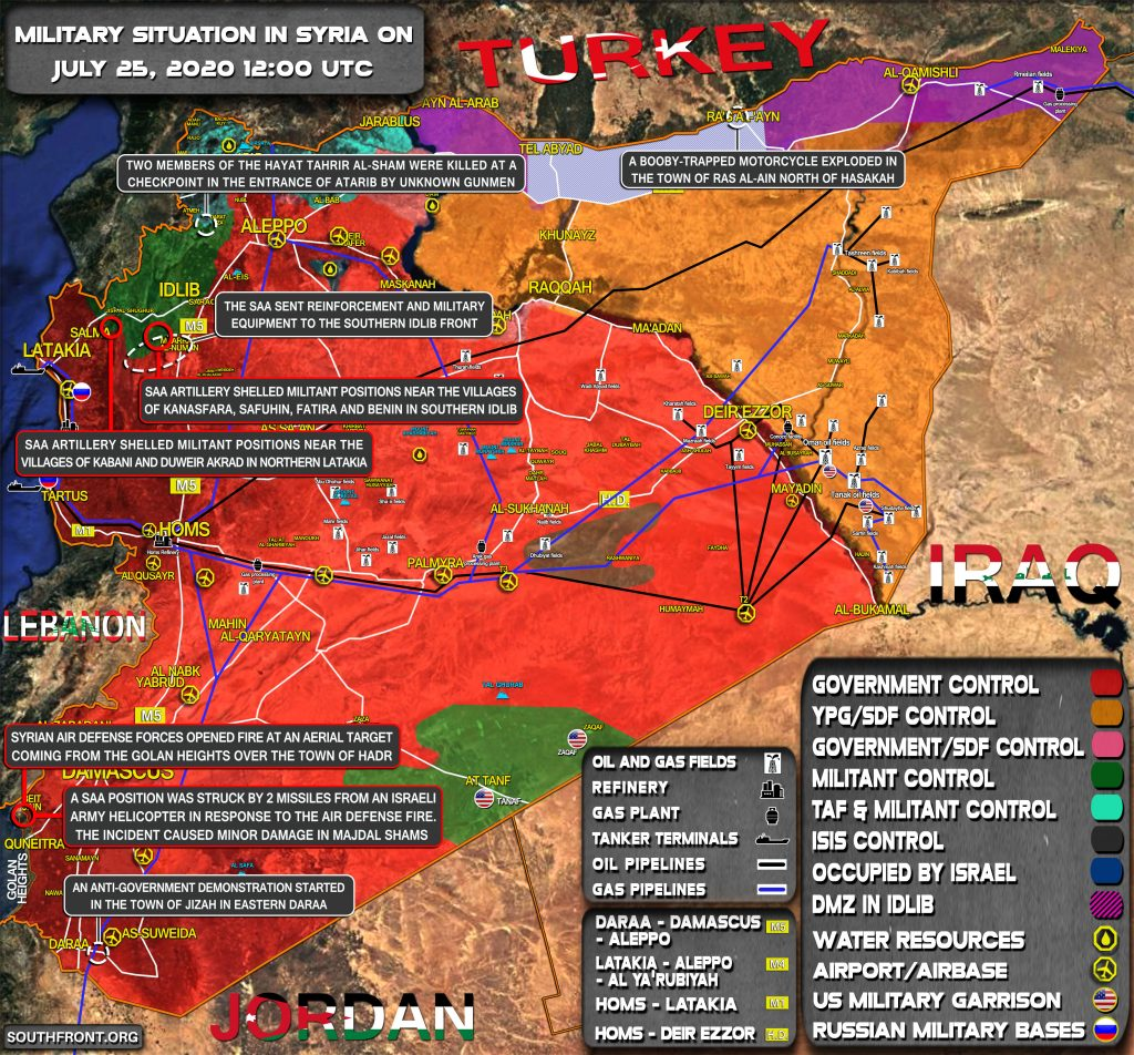 Military Situation In Syria On July 25, 2020 (Map Update)