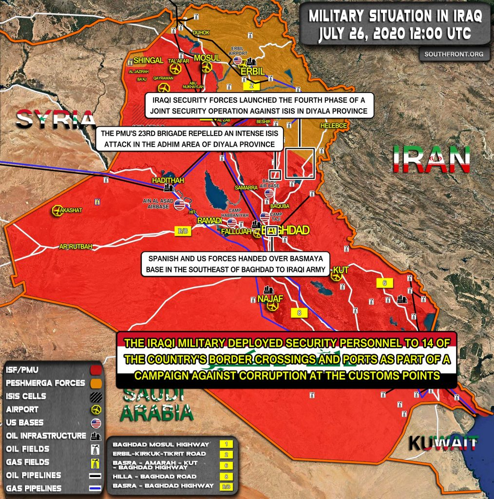 Military Situation In Iraq On July 26, 2020 (Map Update)