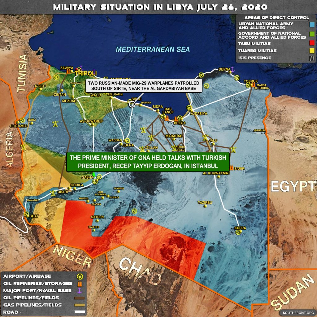 Military Situation In Libya On July 26, 2020 (Map Update)
