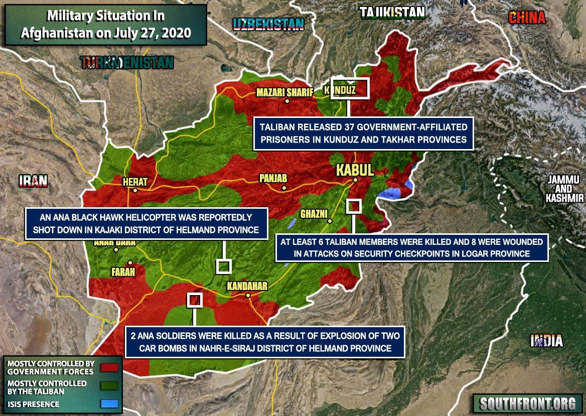 Military Situation In Afghanistan On July 27, 2020 (Map Update)