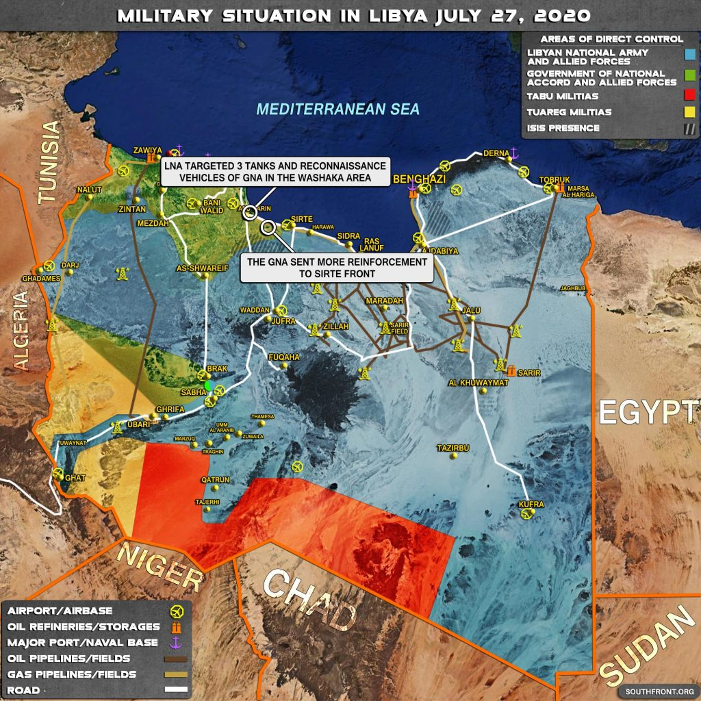 Military Situation In Libya On July 27, 2020 (Map Update)