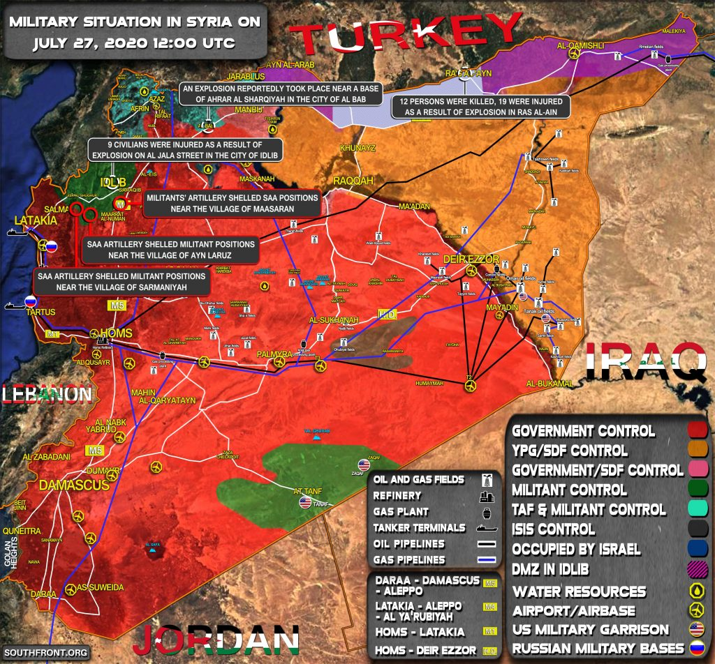 Military Situation In Syria On July 27, 2020 (Map Update)