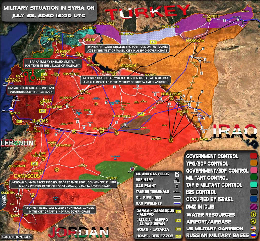Military Situation In Syria On July 28, 2020 (Map Update)